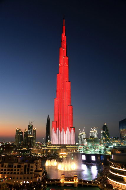 Burj Khalifa Salutes The Leadership And People Of Qatar