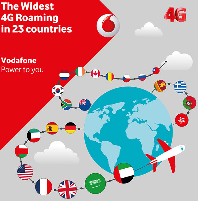 Vodafone offers the widest 4g roaming in 23 countries ...