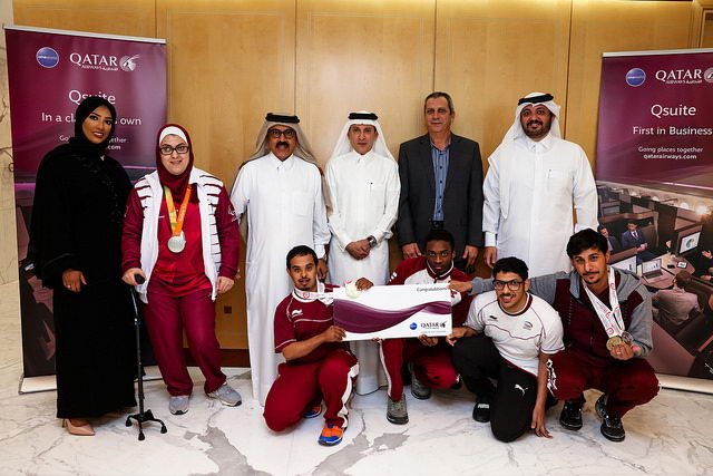Akbar Al Baker awards five Paralympians with gold