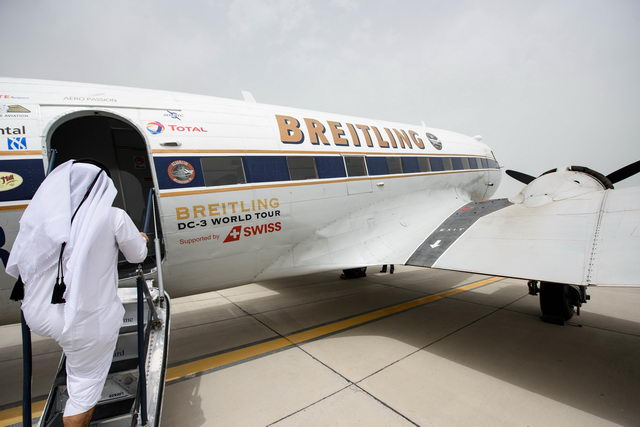 Legendary Breitling DC-3 touches down in Qatar as part of ...