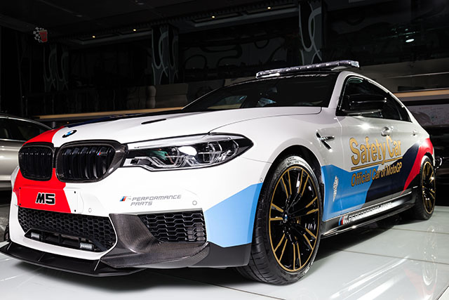 the new bmw m5 selected as official safety car at motogp qatar grand prix 2018 qatar is booming. Black Bedroom Furniture Sets. Home Design Ideas