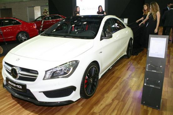The new mercedes benz cla 45 amg comes to doha qatar is for Mercedes benz qatar