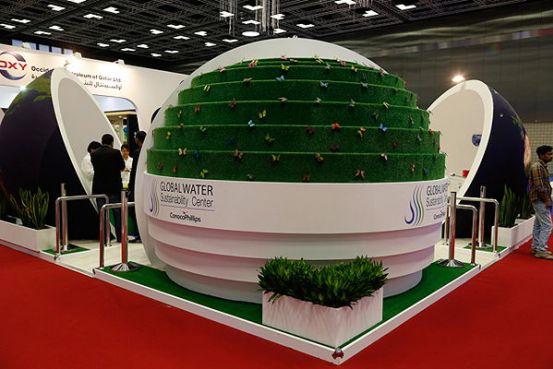 Marketing Exhibition Stand Qatar : Conocophillips global water sustainability unveils