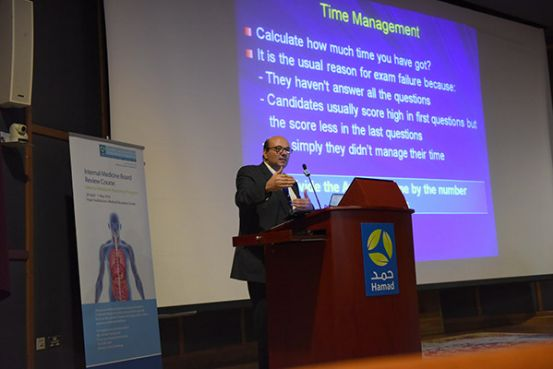 120 residents and trainees prepare for the Internal Medicine Arab