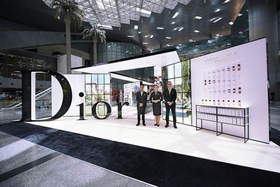 Image result for DIOR and Qatar Duty Free Launch World Exclusive DIOR LES PARFUMS Podium at Hamad International Airport